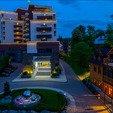 фото Отеля «Миротель» в Трускавце.Санаторий вечером